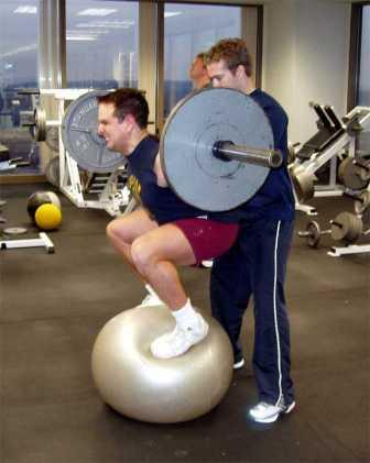 squats on a ball