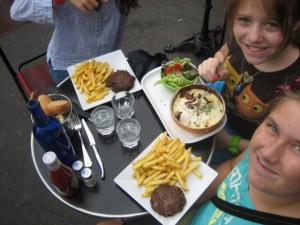 Our first day in Paris - Good eating! the kids tempered their fry intake but they were cooked in duck fat so it was hard!