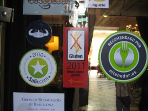 The label in the center certified them as a gluten free providing eatery.